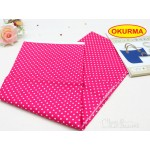 0320666060 Japan Iron-Interfacing Polka Dots Peach Red Per PK
