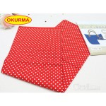0320666061 Japan Iron-Interfacing Polka Dots - Red Per PK