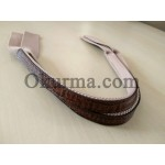 0421100251 Leather Handle Brown Per PR