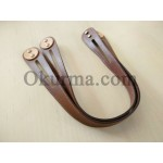 0421100300 Leather Handle, Coffee Per Pair